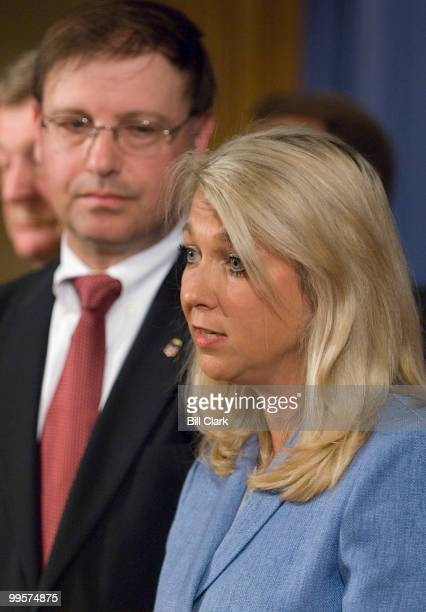 Assistant Attorney General Alice Fisher and US Attorney Chuck Rosenberg Eastern District of Virginia participate in the news conference at the...