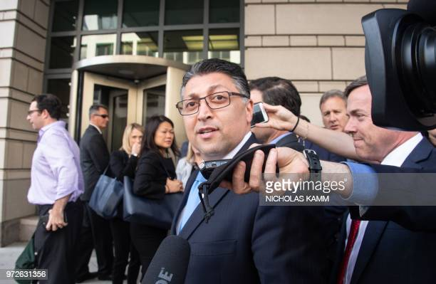 US Assistant Attorney General Makan Delrahim speaks to the press after a court ruled that the 85 billion USD merger between ATT and Time Warner could...