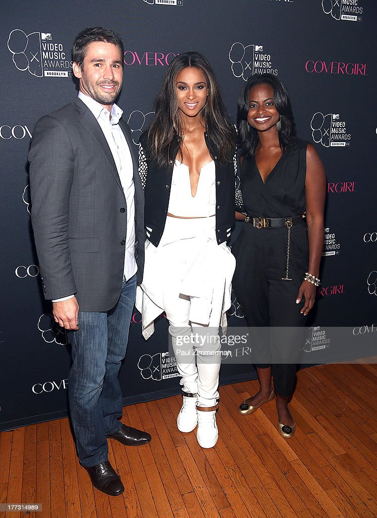 Assistant Brand Manager for COVERGIRL Alan Lefebvre, Ciara and Global Assistant Brand Manager at Procter and Gamble Khosi Roy attend Easy, Breezy, Brooklyn hosted by Becky G and presented by MTV and COVERGIRL at Music Hall of Williamsburg on August 22, 2013 in the Brooklyn borough of New York City.