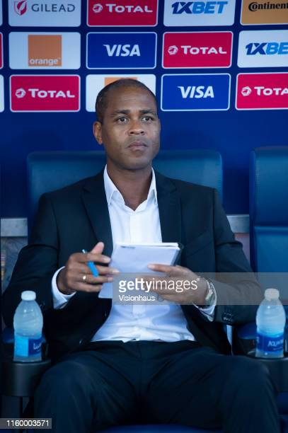 Assistant Cameroon Coach Patrick Kluivert during the 2019 Africa Cup of Nations Group F match between Benin and Cameroon at Ismailia Stadium on July...