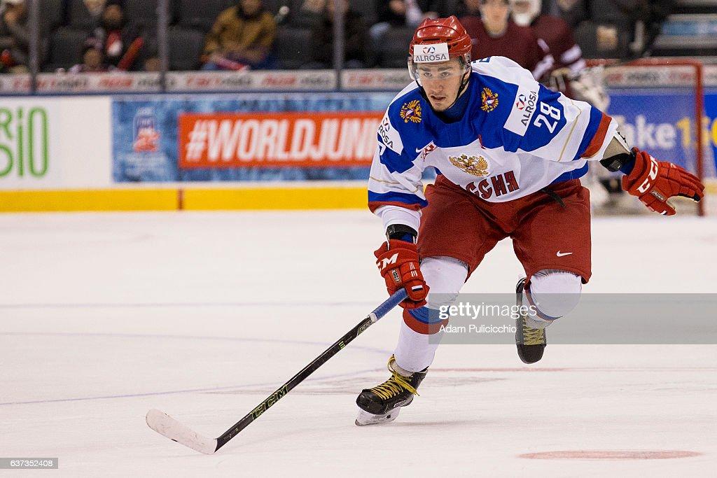 Latvia v Russia - 2017 IIHF World Junior Championship : News Photo