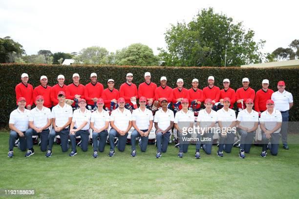 Assistant Captain Steve Stricker, Assistant Captain Fred Couples, Patrick Cantlay, Bryson DeChambeau, Tony Finau, Rickie Fowler, Dustin Johnson, Matt...