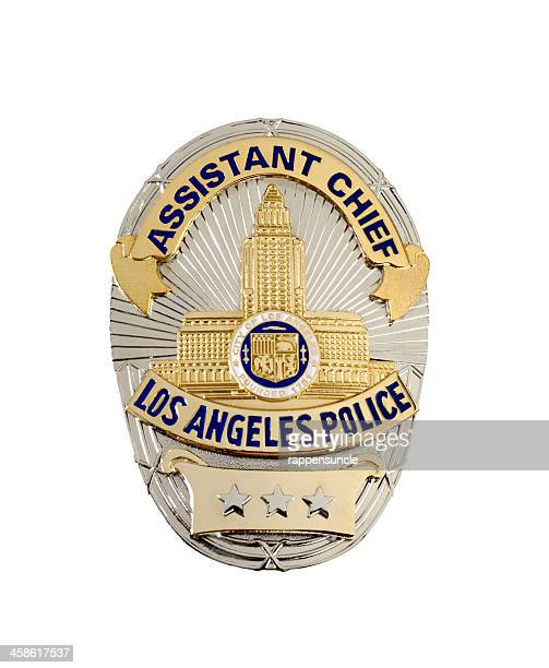 lapd assistant chief's badge - los angeles police department stock pictures, royalty-free photos & images