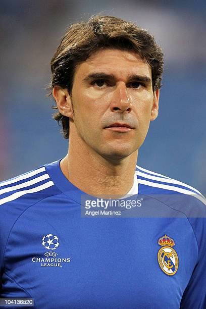 Assistant coach Aitor Karanka of Real Madrid watches on prior to the start of the UEFA Champions League group G match between Real Madrid and AFC...