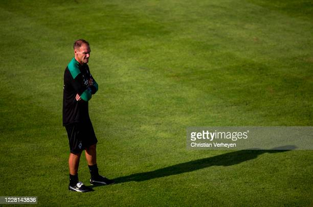 Assistant Coach Alexander Zickler is seen during a Training session at the Training Camp of Borussia Moenchengladbach at Klosterpforte on August 21,...