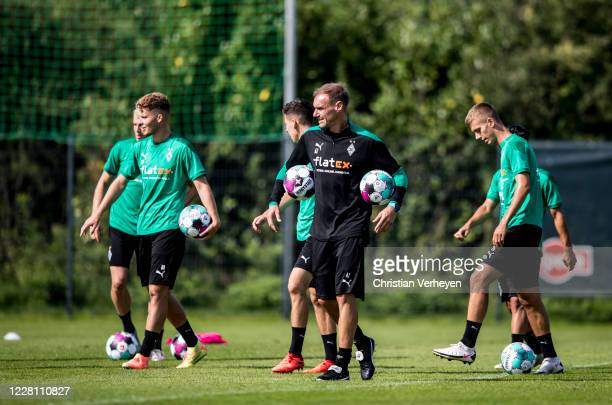 Assistant Coach Alexander Zickler is seen during the Training Camp of Borussia Moenchengladbach at Klosterpforte on August 19, 2020 in Marienfeld,...