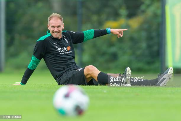 Assistant coach Alexander Zickler of Borussia Moenchengladbach gestures during day 4 of the pre-season summer training camp of Borussia...
