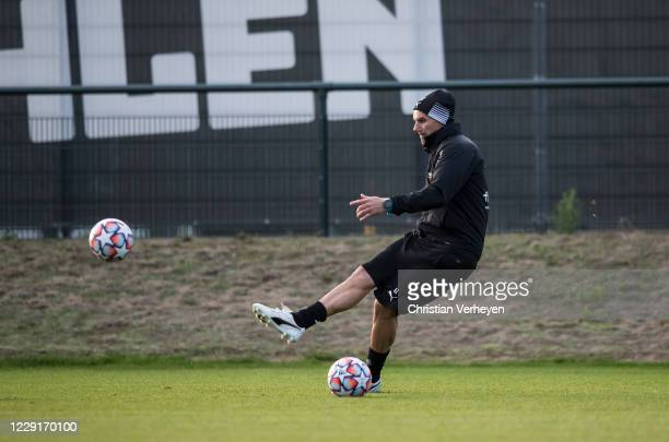 October 19: Assistant Coach Alexander Zickler of Borussia Moenchengladbach in action during a training session of Borussia Moenchengladbach at...