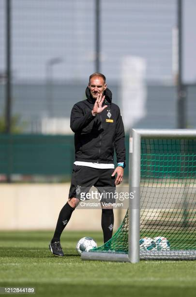 Assistant Coach Alexander Zickler of Borussia Moenchengladbach is seen during a training session of Borussia Moenchengladbach at BorussiaPark on May...