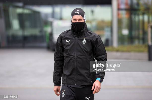 Assistant Coach Alexander Zickler of Borussia Moenchengladbach is seen ahead a training session of Borussia Moenchengladbach at Borussia-Park on...
