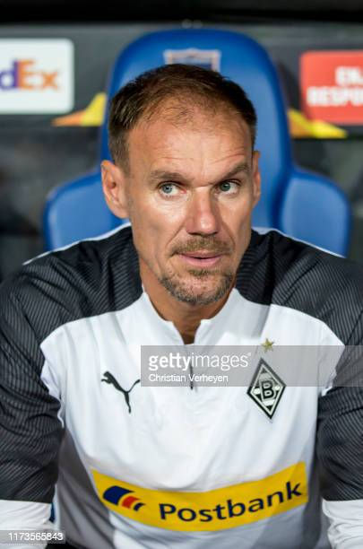 Assistant Coach Alexander Zickler of Borussia Moenchengladbach is seen during the UEFA Europa League Group J match between Istanbul Basaksehir FK and...