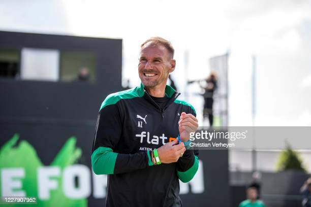 Assistant Coach Alexander Zickler of Borussia Moenchengladbach is seen during the first training session Season 2020/21 of Borussia Moenchengladbach...