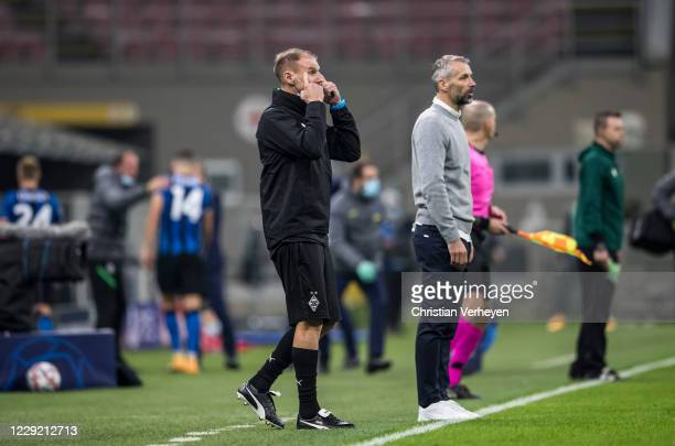 Assistant Coach Alexander Zickler of Borussia Moenchengladbach is seen during the Group B - UEFA Champions League match between FC Internazionale and...