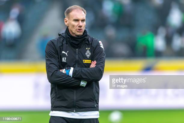 assistant coach Alexander Zickler of Borussia Moenchengladbach looks on prior to the Bundesliga match between Borussia Moenchengladbach and 1 FSV...