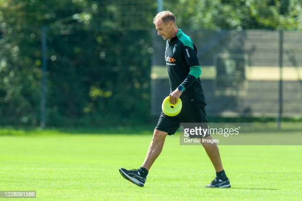 Assistant coach Alexander Zickler of Borussia Moenchengladbach looks on during day 2 of the pre-season summer training camp of Borussia...