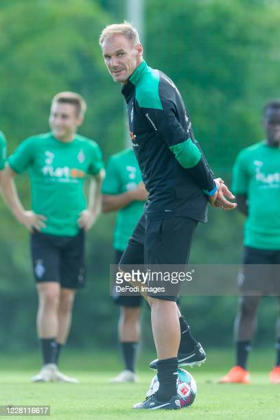 Assistant coach Alexander Zickler of Borussia Moenchengladbach looks on during day 3 of the pre-season summer training camp of Borussia...