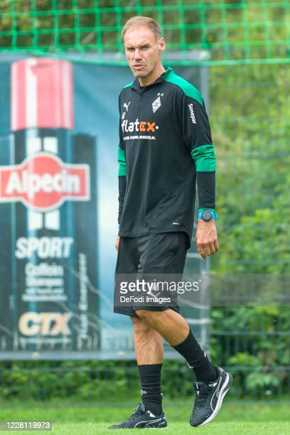 Assistant coach Alexander Zickler of Borussia Moenchengladbach looks on during day 4 of the pre-season summer training camp of Borussia...