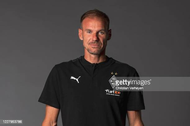 Assistant Coach Alexander Zickler of Borussia Moenchengladbach poses during the team presentation at Borussia-Park on August 07, 2020 in...