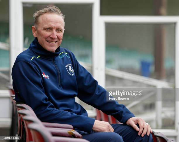 Assistant coach Allan Donald of Kent poses for a portrait during a Kent CCC photocall at The Spitfire Ground on April 9 2018 in Canterbury England
