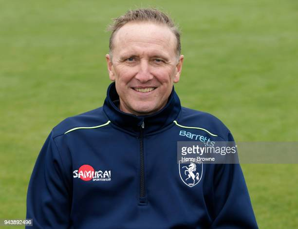 Assistant coach Allan Donald poses for a portrait during a Kent CCC photocall at The Spitfire Ground on April 9 2018 in Canterbury England