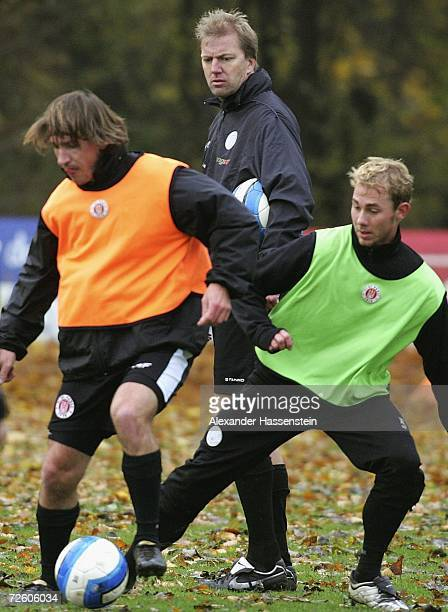 Assistant coach Andre Trulsen looks on during the training session of FC St. Pauli at the Kollaustrasse on November 20, 2006 in Hamburg, Germany....