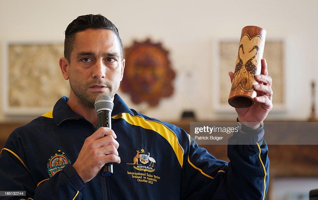 Australia Players Community Visit - AFL Australian International Rules