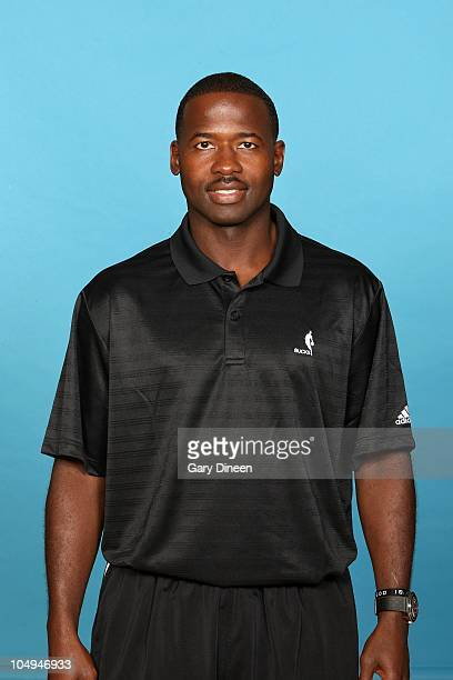 Assistant coach Anthony Goldwire of the Milwaukee Bucks poses for a portrait during 2010 NBA Media Day on September 27, 2010 at the Milwaukee Bucks...
