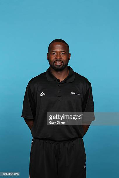 Assistant Coach Anthony Goldwire of the Milwaukee Bucks poses for a portrait during media day at the Cousins Center on December 10, 2011 in St....