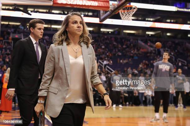 Assistant coach Becky Hammon of the San Antonio Spurs during the NBA game against the Phoenix Suns at Talking Stick Resort Arena on November 14 2018...