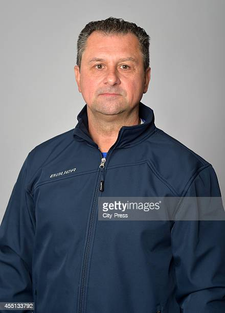 Assistant coach Bernie Engelbrecht of Straubing Tigers during the portrait shot on august 15, 2014 in Straubing, Germany.