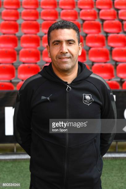 Assistant coach Bouziane Benaraibi during photoshooting of Stade Rennais for new season 2017/2018 on September 19 2017 in Rennes France