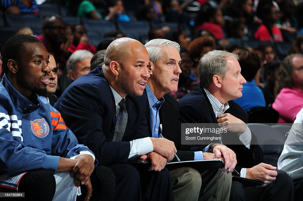 Assistant coach Brian Winters of the Charlotte Bobcats during the game against the Milwaukee Bucks at the Time Warner Cable Arena on October 25, 2012 in Charlotte, North Carolina.