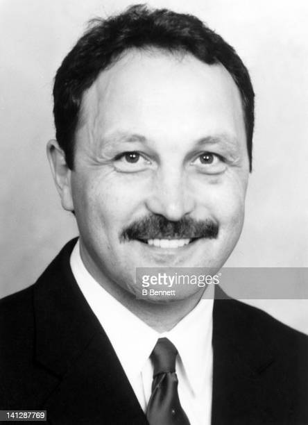 Assistant coach Bryan Trottier of the Pittsburgh Penguins poses for a portrait in September 1994 in Pittsburgh Pennsylvania