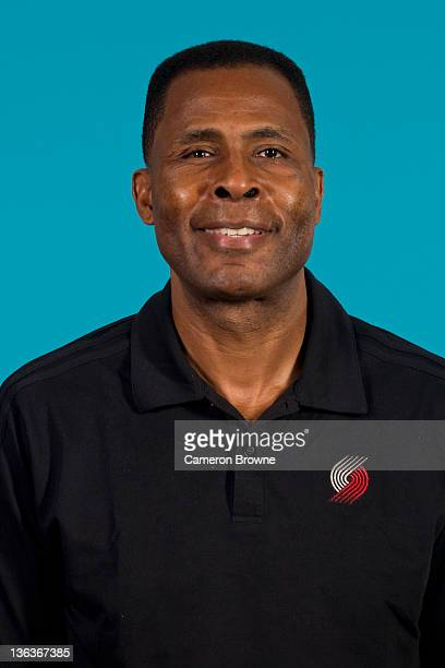 Assistant coach Buck Williams of the Portland Trail Blazers poses for a portrait during Media Day on December 16 2011 at the Rose Garden Arena in...