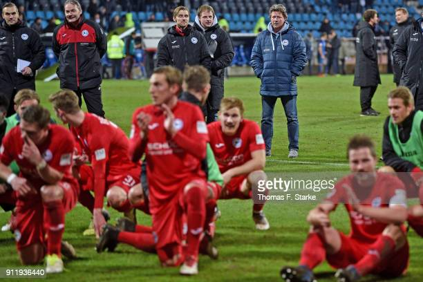 Assistant coach Carsten Rump goalkeeper coach Marco Kostmann assistant coach Sebastian Hille video analyst Philipp Heithoelter and coach Jeff Saibene...