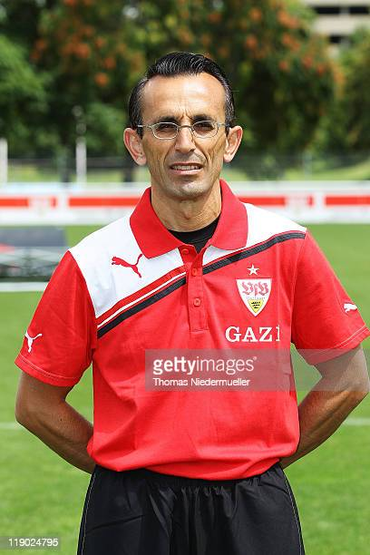 Assistant coach Christos Papadopulos poses during the VfB Stuttgart team presentation at Stuttgart's training ground on July 14 2011 in Stuttgart...