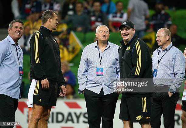Assistant coach Clark Laidlaw Assistant coach John Plumtree Assistant coach John Holland Chris Boyd coach of the Hurricanes and team manager Tony...