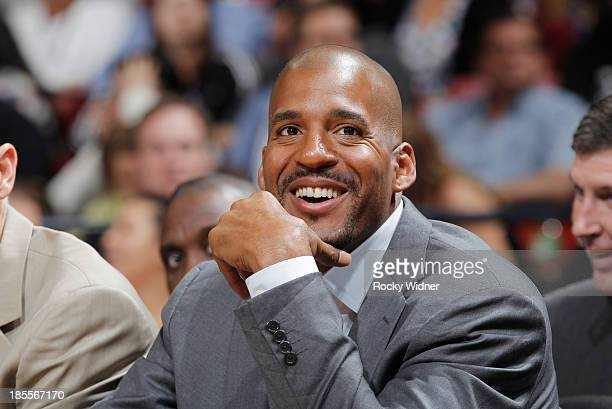 Assistant coach Corliss Williamson of the Sacramento Kings coaches against the Phoenix Suns on October 17 2013 at Sleep Train Arena in Sacramento...
