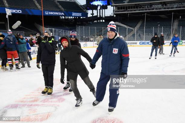 Assistant coach Darryl Williams of the New York Rangers participates in the family skate at Citi Field on December 31 2017 in the Flushing...