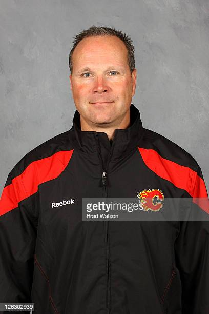 Assistant Coach Dave Lowry of the Calgary Flames poses for his official headshot for the 20112012 season on September 17 2011 at the Scotiabank...