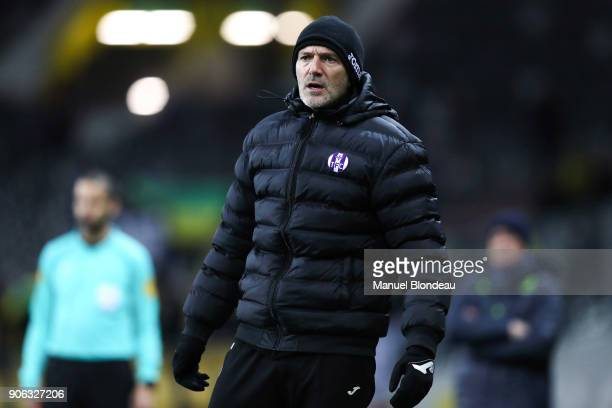 assistant coach David Barriac of Toulouse during the Ligue 1 match between Toulouse and Nantes at Stadium Municipal on January 17 2018 in Toulouse