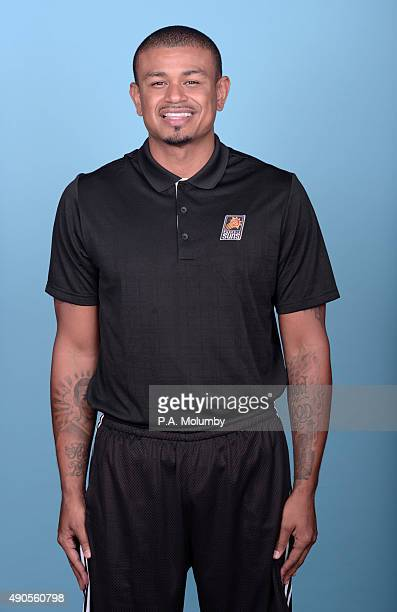 Assistant Coach Earl Watson of the Phoenix Suns poses for a portrait on Media Day on September 28 2015 at the Talking Stick Resort Arena in Phoenix...