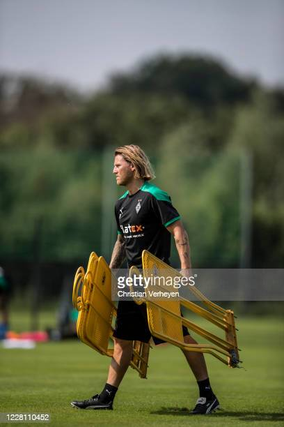 Assistant Coach Eugen Polanski in action during the Training Camp of Borussia Moenchengladbach at Klosterpforte on August 19, 2020 in Marienfeld,...