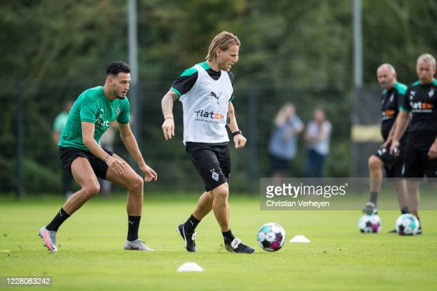 Assistant Coach Eugen Polanski of Borussia Moenchengladbach in action during the Training Camp of Borussia Moenchengladbach at Klosterpforte on...