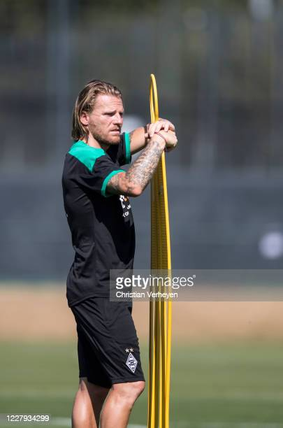 Assistant Coach Eugen Polanski of Borussia Moenchengladbach is seen during a training session of Borussia Moenchengladbach at Borussia-Park on August...