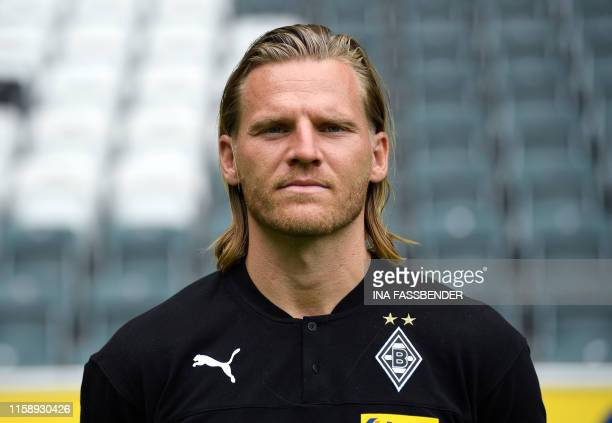 Assistant coach Eugen Polanski poses for a photo during the presentation of Borussia Moenchegladbach's squad for the upcoming first Bundesliga season...