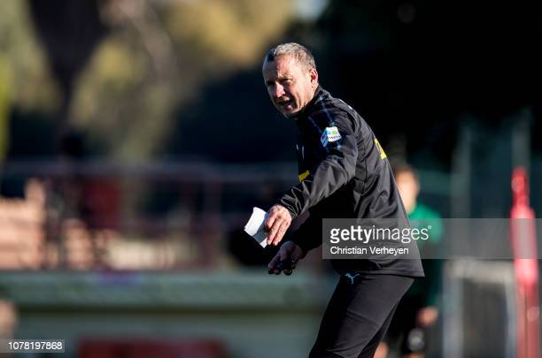 Assistant Coach Frank Geideck during a training session at Borussia Moenchengladbach Training Camp on January 06, 2019 in Jerez, Spain.
