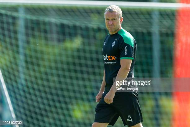 Assistant coach Frank Geideck of Borussia Moenchengladbach looks on during day 2 of the pre-season summer training camp of Borussia Moenchengladbach...