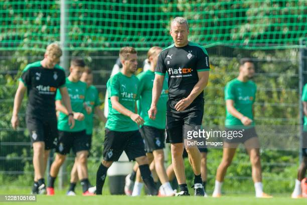 Assistant coach Frank Geideck of Borussia Moenchengladbach looks on during day 3 of the pre-season summer training camp of Borussia Moenchengladbach...