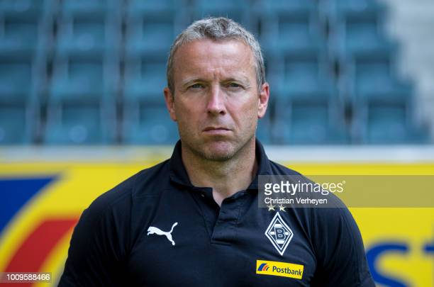 Assistant Coach Frank Geideck of Borussia Moenchengladbach poses during the Team Presentation of Borussia Moenchengladbach at BorussiaPark on August...